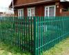 A beautiful fence made of a metal euroshtaketnik