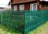 Красивый забор из металлического евроштакетника