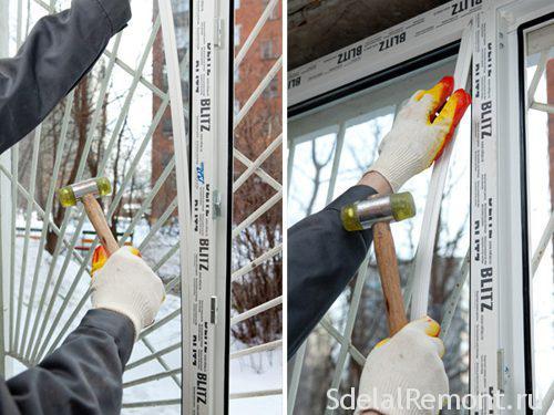 Заміна склопакета в пластиковому вікні